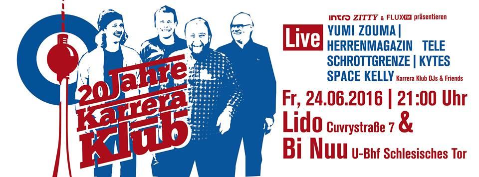 20 Jahre Karrera Klub, 030, Lido, Jubiläum, Indie, Party, Berlin