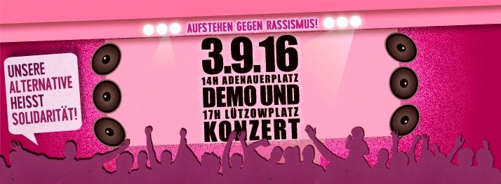 Aufstehen gegen Rassismus, Demo, Demonstration, AfD, Berlin