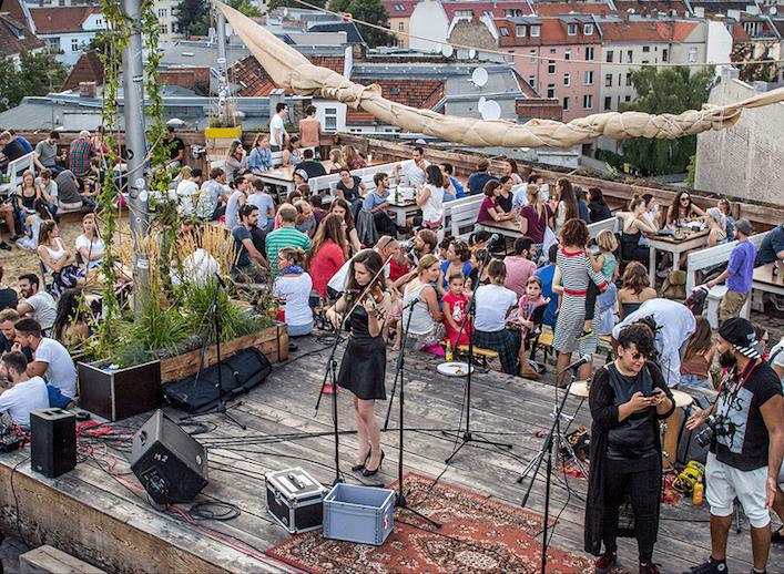 Jazz, Konzert, Berlin, Klunkerkranich, Dachterrasse