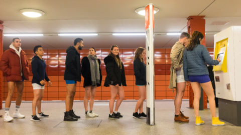 No Pants Subway Ride, Subway, 2018, Berlin, New York