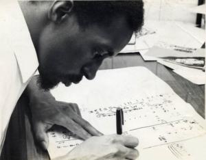 Julius Eastman composing