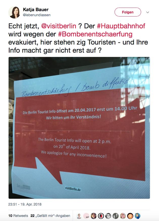 030 Magazin, Berlin, Bombe, Entschärfung