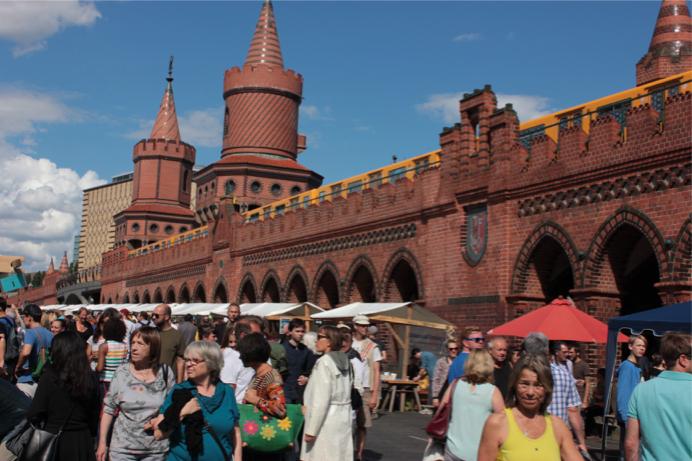 Oberbaumbrücke, Gallery, Open-Air-Gallery, Berlin, Brücke, Warschauer Straße, Spree, Kreuzberg, Kunst, Kultur, Malerei