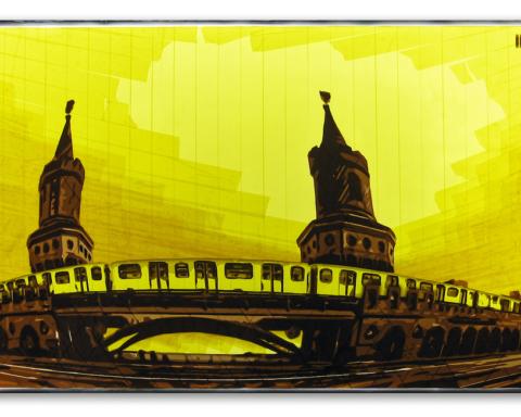 Tape, Art, Berlin, Convention, 030, Magazin, Juli, 2018, Kunst, Art, U1, Oberbaumbruecke, Berlin, packing-tape, art, Ostap