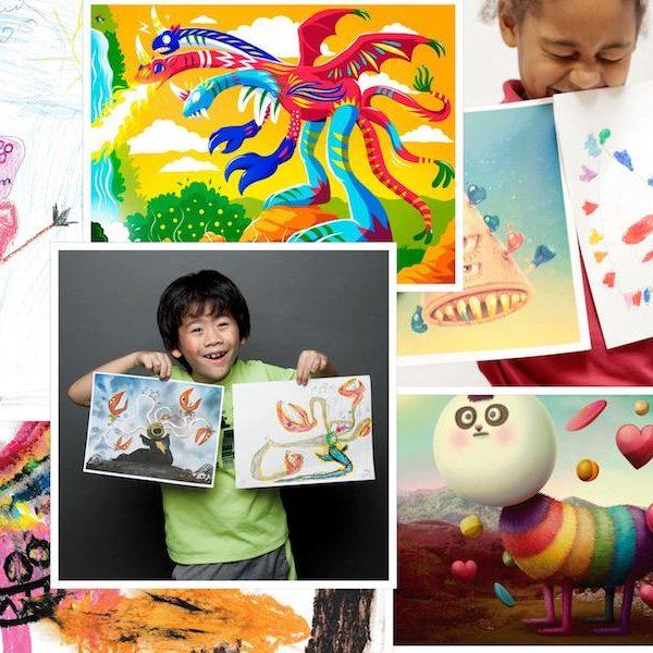 Monster, Kunst, Ausstellung, Kinder, Zeichnen, Malen, Fantasie