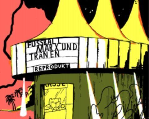 FUSSBALL, MARX UND TRÄNEN, Fußball Marx und Tränen, Neurotitan Galerie, LE MONDE diplomatique, Illustration, Berlin, 030, 030magazin, Kunst,