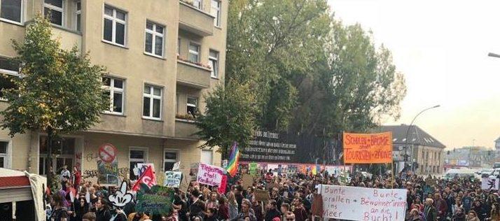 Demonstration, Ostkreuz, Bebauungsplan, Berlin, Investoren, 030