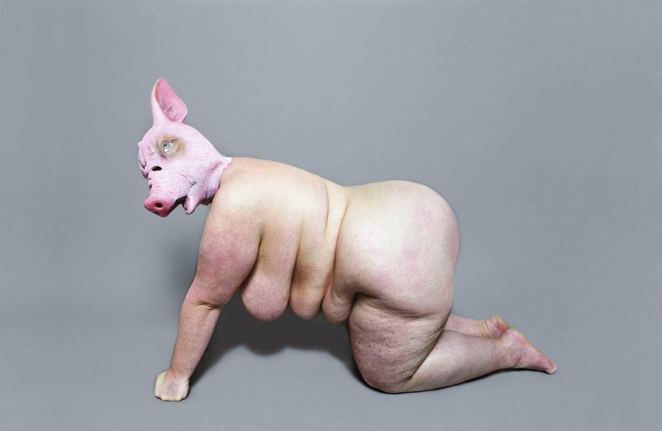 Julischka Stengele, Gesellschaft, Fat Femme Furious, Galerie im Turm, Berlin, Ausstellung, Kunst, Foto, 030