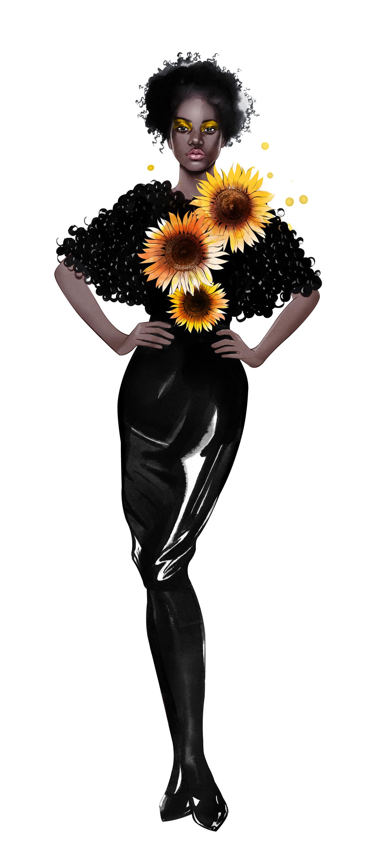 Sonneblume, Designerin