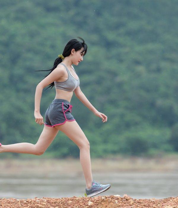 Laufen, Frau, Body, Körper