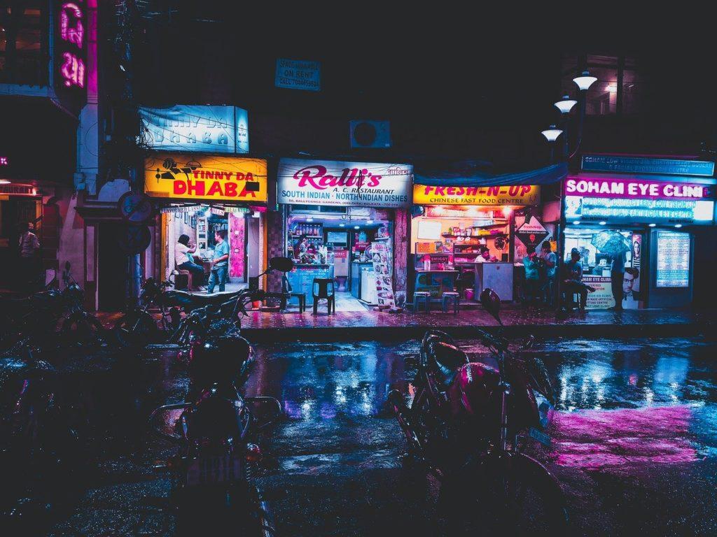 Werbung, Reklame, Lights, City