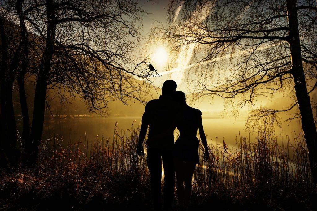 Valentinstag, Liebespaar, Natur